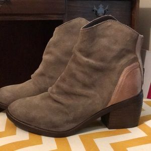 Rebels two tone leather boots